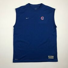 Nike Men Sleeveless Blue Chicago Cubs Athletic Casual Fitness Shirt sz. Small