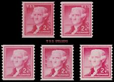 1055 1055a 1055s 1055b 1055v Jefferson 2c Liberty Issue 5 Varieties MNH -Buy Now