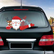 Waving Santa Claus Elk Christmas Novelty Sticker Car Rear Windscreen Wiper Decor