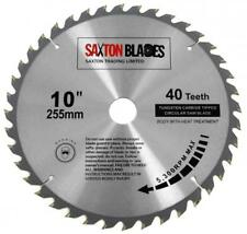 Saxton TCT Circular Wood Saw Blade 255mm x 40T fits Evolution Rage 25.4mm Ring