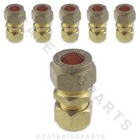 Lot de 6 laiton 10mm x 8mm réducteur droit compression Raccord connecteurs