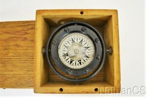 Antique DIRIGO NAUTICAL COMPASS Sherman Seattle Nice Condition
