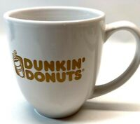 Dunkin Donuts Ceramic Coffee Mug White Cone Tapered Shaped EUC
