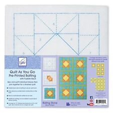June Tailor Polyester Quilt As You Go Printed Blocks On Batting-rolling Stone -