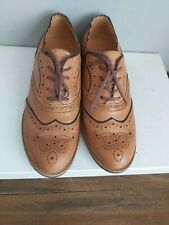Shoe Embassy Tan Leather Ladies Brogues Shoes Lace Up Size UK 5 EU 38