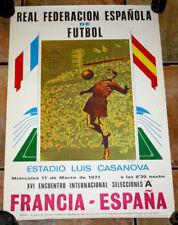 AFFICHE POSTER CARTEL ESPAGNE FRANCE CUP 1970
