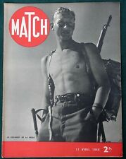 "WW II  French Alpine Regiment Navy & German U-Boats orig 1940 Magazine ""MATCH"""