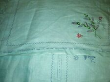 Paragon 4 Placemats and napkins No 0425/2  Stamped Pattern Green Linen Started
