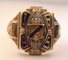 1965 Waupun High School 10K Class Ring, Solid Gold, Indian Face