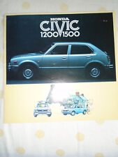 Honda Civic 1200 1500 brochure c1976