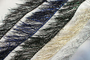 5cards 25m Tinsel Chenille Crystal Flash Line Nymph Streamers Fly Tying Material