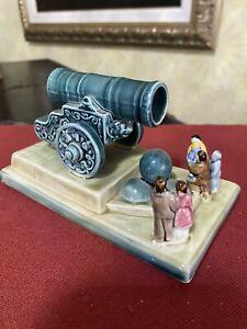 Vintage Soviet Porcelain Figurine Tsar Cannon ZiK Konakovo USSR VG