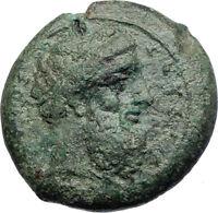 Syracuse in Sicily 357BC Rare Ancient Greek  Coin Zeus Thunderbolt Eagle  i74132
