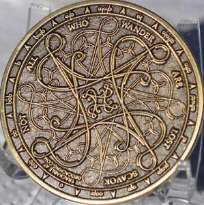 Tengwar NAWAL geocoin Tolkien Scavok VHTF - TOC #204
