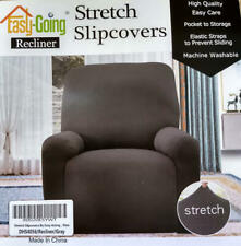 Easy-Going 4 Pieces Microfiber Stretch Recliner Slipcover Gray