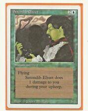 SERENDIB EFREET Magic Revised Blue /Green errata MTG EX Ingles