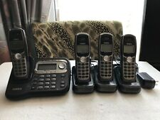 Uniden TRU9465 5.8 GHz Single Line Cordless Phone w/4 Handsets tested working