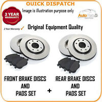 726 FRONT AND REAR BRAKE DISCS AND PADS FOR AUDI A4 2.7 TDI 3/2006-10/2007