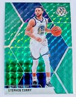 2019-20 Stephen Curry Mosaic Green Prizm #70 Warriors