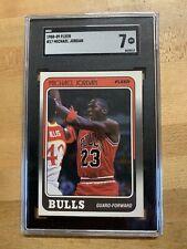 1988 Fleer #17 Michael Jordan (HOF, GOAT, Chicago Bulls) SGC 7 NM