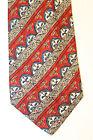 UNGARO Red Blue Gray Men's Tie 100% Silk Made In Italy