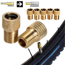 2 x BRASS ADAPTOR PRESTA TO SCHRADER BICYCLE VALVE CONVERTER BIKE PUMP CONNECTOR