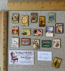 HUGE LOT #19 Dollhouse Miniature SIGNS home decor 1:12 french vet animals Xmas