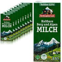 10 x Berchtesgadener Land H-Vollmilch 3,5% 1 L. - Haltbare Bergbauernmilch Milch