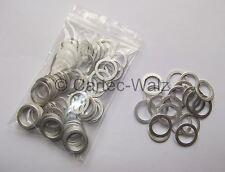 100 STÜCK Aluminiumringe Alu Dichtringe Dichtungen AL 18x24x1,5mm DIN7603 Form A