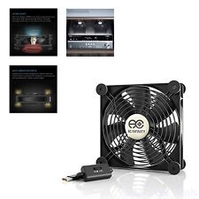 Quiet 140mm USB Fan For Receiver DVR Playstation Xbox Computer Cabinet Cooling