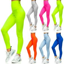 Leggings Trainingshose Leggins Hose Sport Fitness Slim Fit Damen BOLF Unifarben