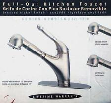Pegasus Single Handle Pull Down Sprayer Kitchen Faucet In Brushed Nickel & Gold