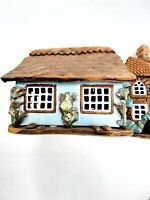 Vtg Lithuania Pottery Clay  Candle House Cottage Handmade Original