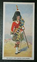The Queen's Own Cameron Highlanders   Original 1930's Vintage Card  VGC