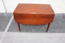 Great Early American Solid Mahogany Drop Leaf Breakfast Hallway Sofa Side Table