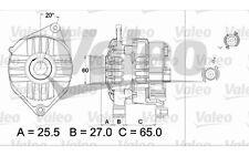 VALEO Alternador CITROEN JUMPER PEUGEOT BOXER FIAT DUCATO 437431