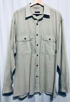 Patagonia Size XL Mens Light Green Gingham Button Up Shirt