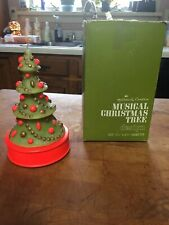 Vintage Hallmark Musical Christmas Tree Candle In Box