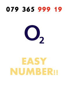 GOLD VIP O2 02 Sim Card PAYG Fancy EASY Good Number '079 365 999 19 ' RARE!