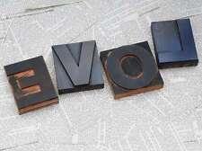 """""""LOVE"""" Holzbuchstaben Drucklettern Lettern Vintage shabby chic letterpress wood"""