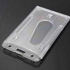 Latest Clear Vertical Hard Plastic Multi Card ID Badge Holder Transparent
