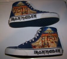 Vintage IRON MAIDEN POWERSLAVE Vans SK8 Hi-Top Skateboard Skate Shoes Men Sz 6.5