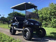"REFURB black 2018 ezgo GAS txt 4 seat Passenger golf cart alloy 14"" rims lifted"