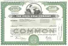 The Coca-Cola Company > original collectible Coke stock certificate