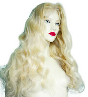 Remi Remy Front Lace Wig Blonde Indian Human Hair Silky Long Premium Wavy
