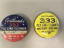 Vintage Cortland 333 Fly Line Cleaner Tins