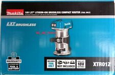 NEW IN BOX Makita 18V XTR01Z Brushless Cordless Battery Compact Router 18 Volt