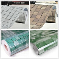Vinyl Self Adhesive Mosaic Aluminum Foil Sticker Kitchen Oil Proof Tile Stickers