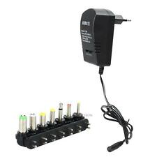2.5A Universal AC to DC Adapter Converter 6 Plugs 12V Power Charger EU Standard