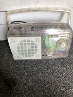 Sentry Jail Prison Clear Transparent AM/FM Portable Desktop Radio